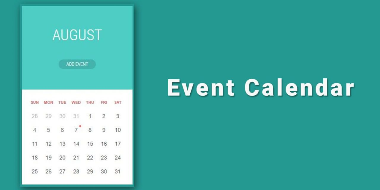 10+ Simple Event Calendar With JavaScript