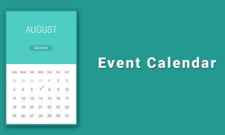 10+ Simple Event Calendar With JavaScript