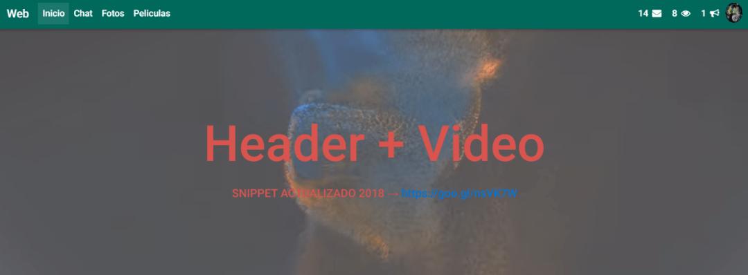 Header + Video