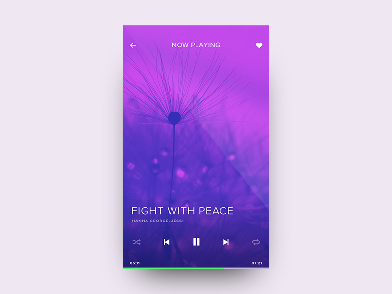 Minimal Music Player
