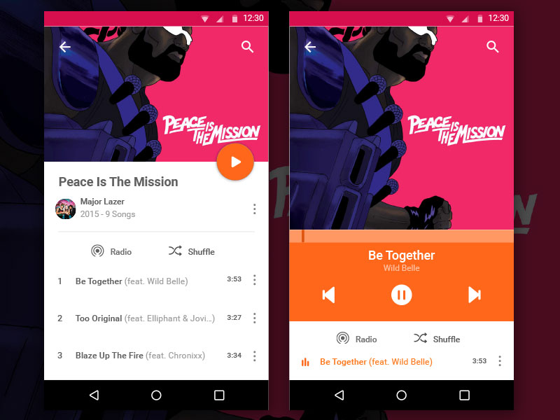 Music Player for Android Sketch Resource