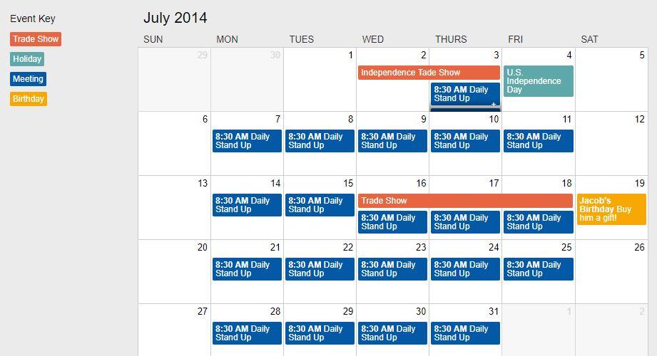Responsive Event Calendar
