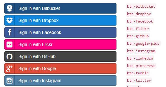 Social Buttons for Bootstrap