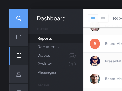 Admin Dashboard Menu