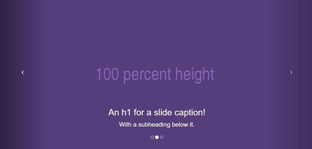 Bootstrap Full Height Carousel
