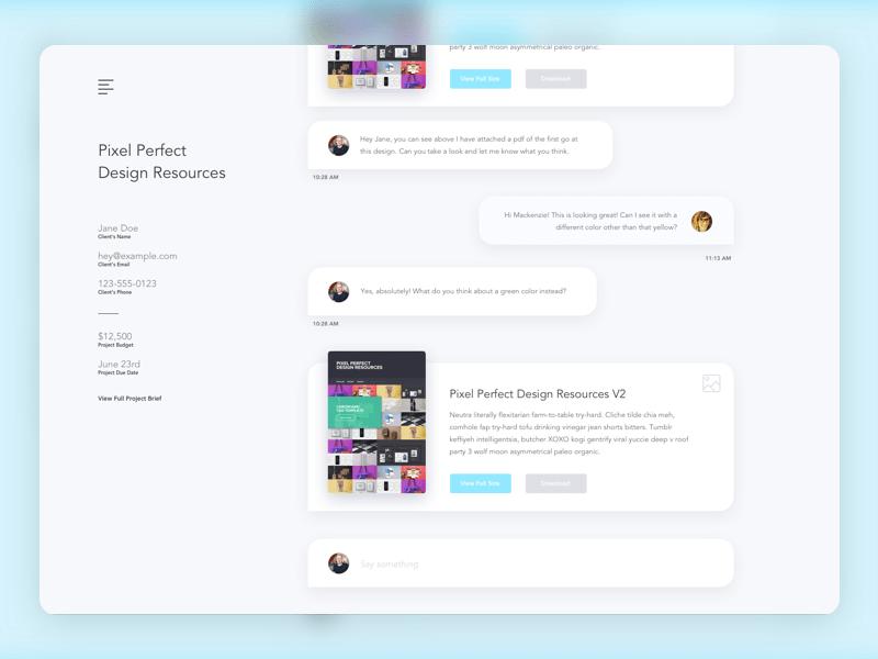 Client Communication App Concept