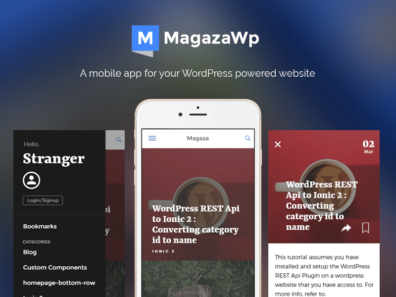 Magaza WordPress Mobile App