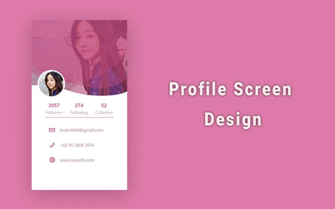 Mobile App Profile Screen design