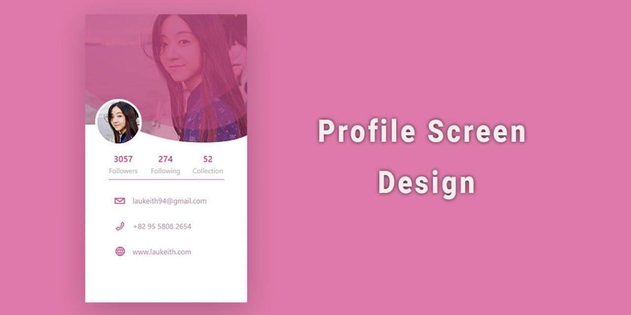 20+ Mobile App Profile Screen UI Design [Updated]