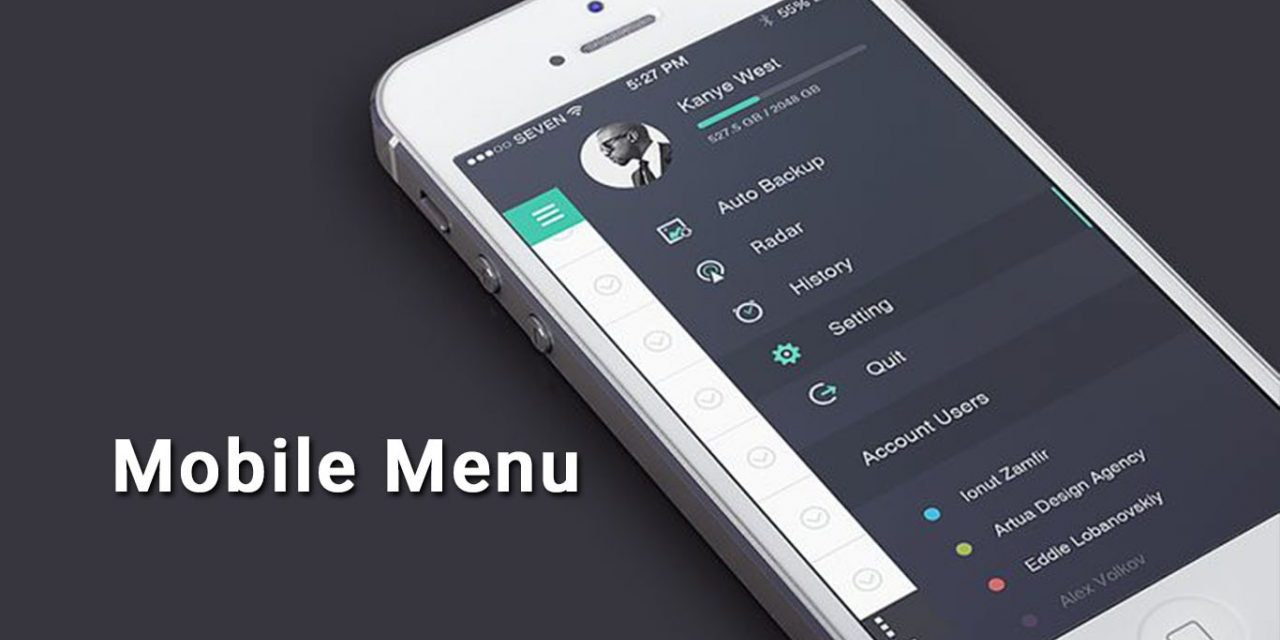 25+ Mobile Navigation Menu UI Design Inspiration