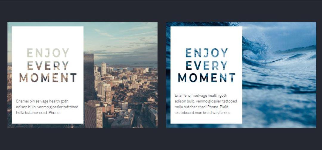 Blog Card: Transparent Text Animation