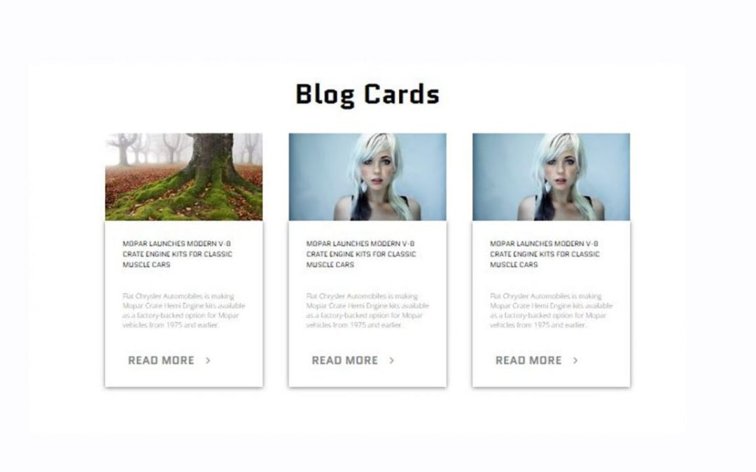 12+ Blog Card Design Example with Source Code