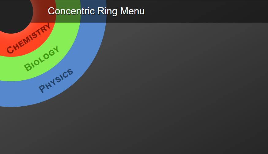 Concentric ring menu