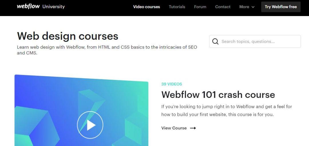 Webflow University