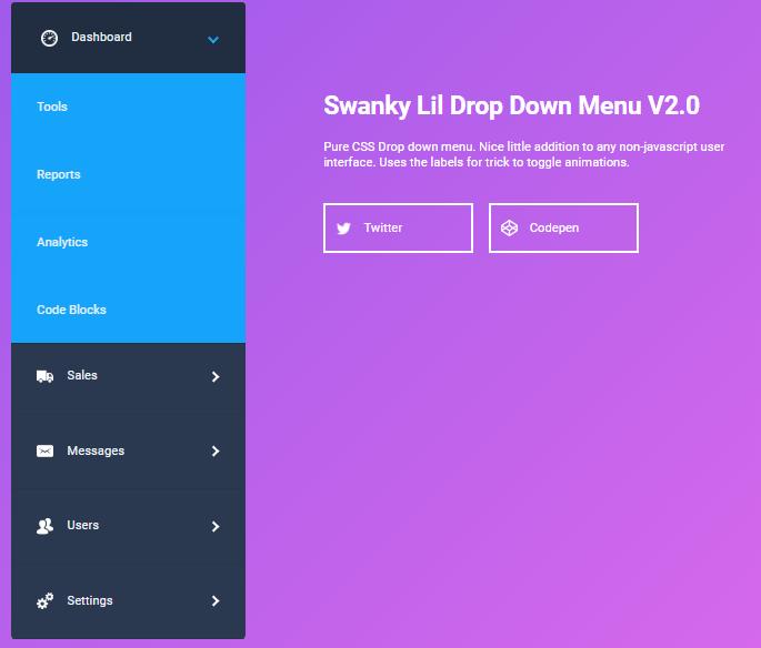 Swanky Lil Drop Down Menu