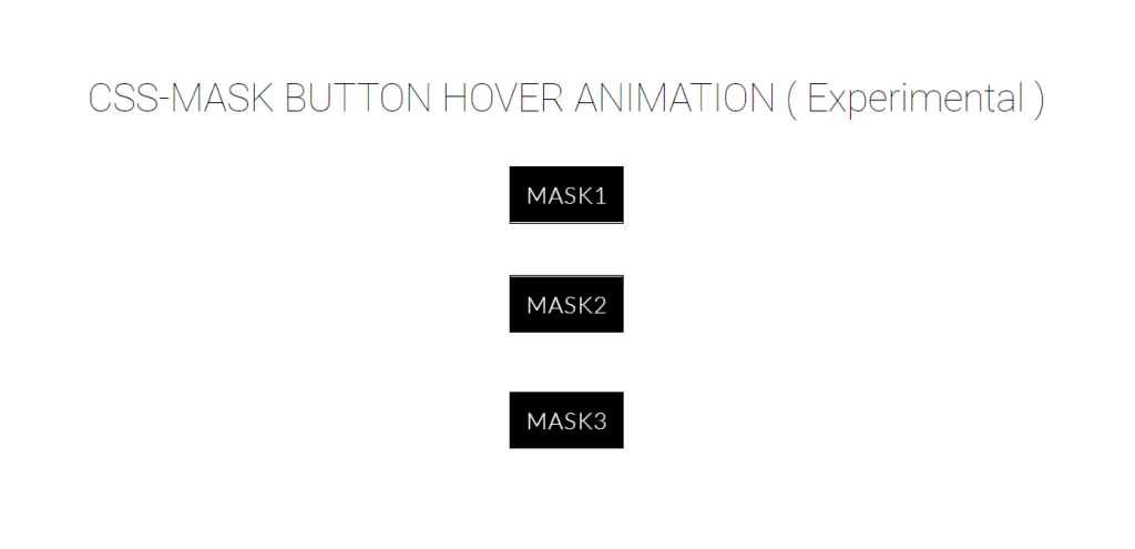 Mask Button Hover Animation