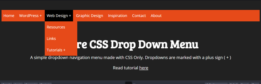 Drop Down Menu