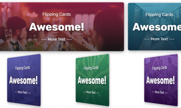 Flip Cards Code Snippet For Web Designer