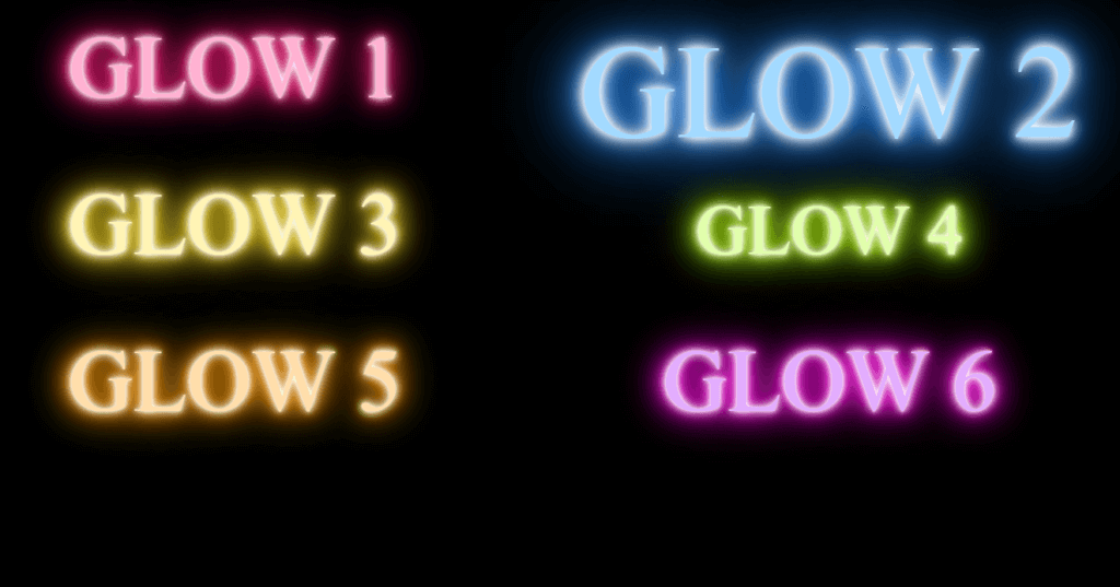 GSAP animate multiple CSS3 text-shadow css glowing text animation