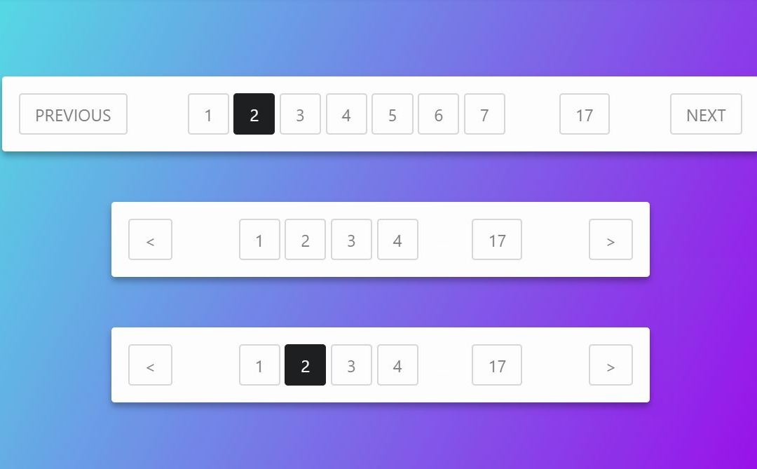 HTML CSS PAGINATION