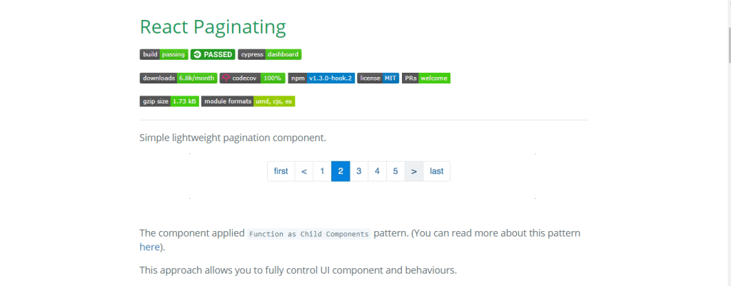 Lightweight react js component