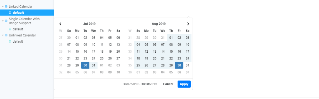 bootstrap date range picker