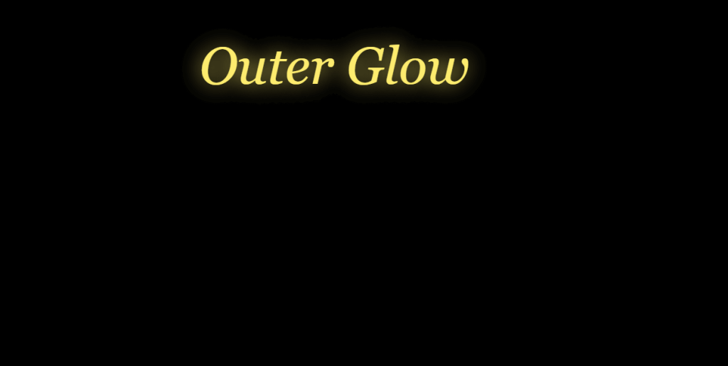 Outer Glow on hover css glowing text animation