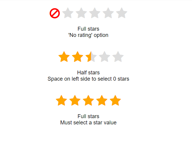 Pure CSS 5 star rating