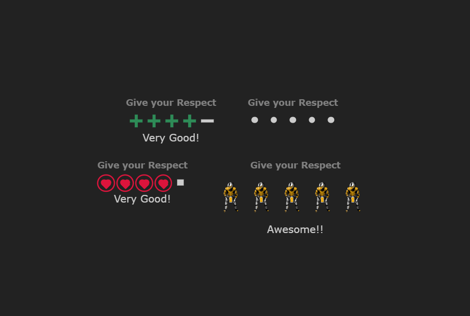 Rating System (CSS Only)