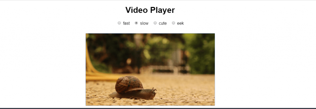 React video player component example