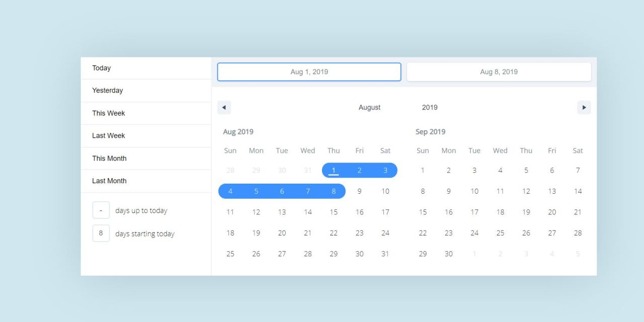 React Calendar Components Libraries
