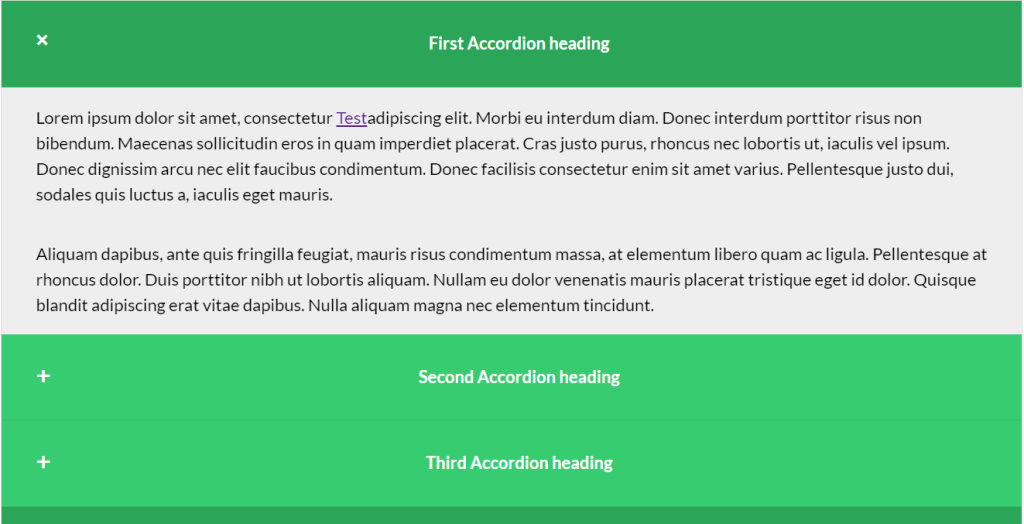 Responsive Animated Accordion
