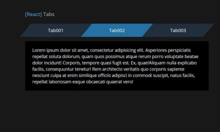 React Tabs Component Example With Source Code