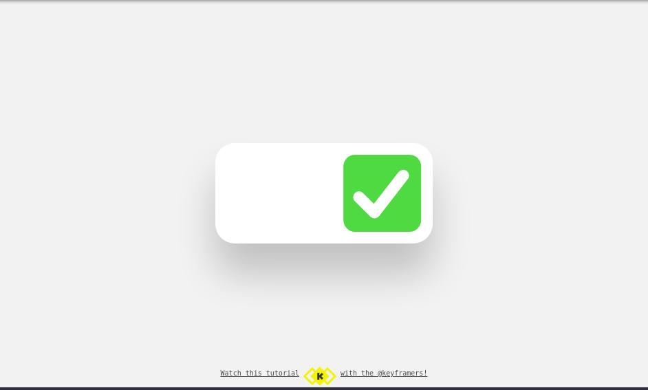 Checkbox toggle animation