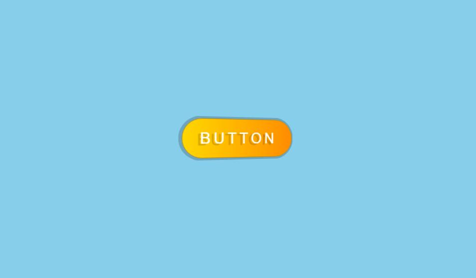 metallic glossy 3d button effect