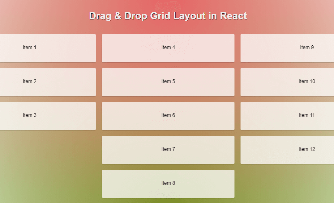 react drag and drop dnd components