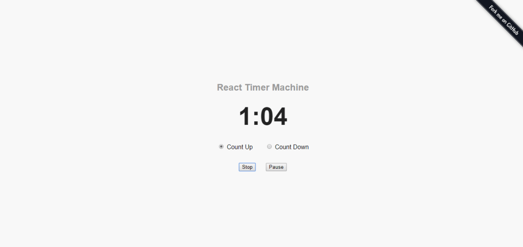 two way react timer clock example