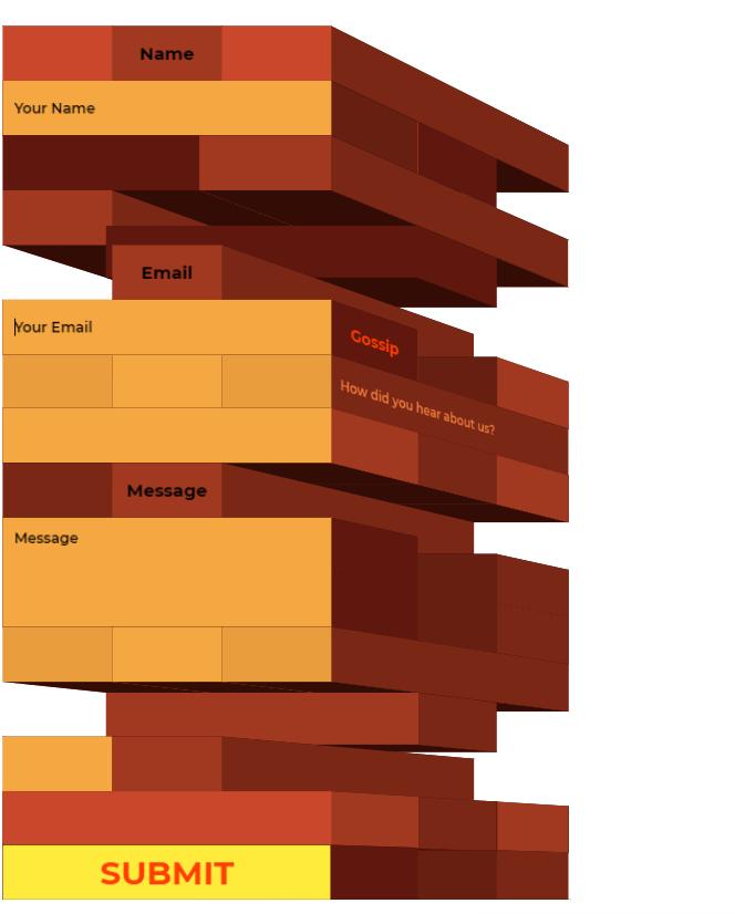 Responsive CSS 3D Contact forms