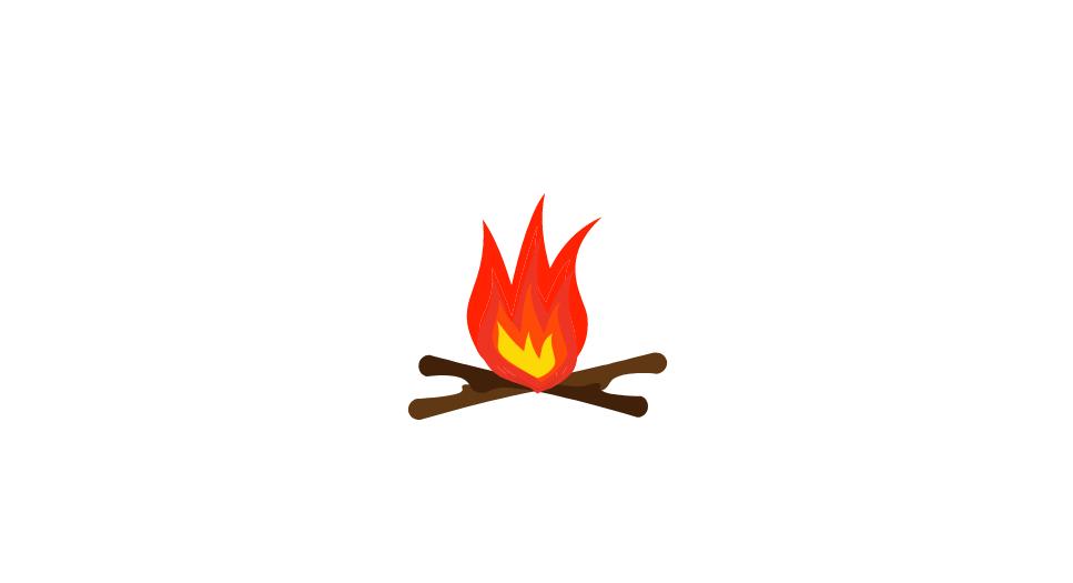 cartoon camp fire