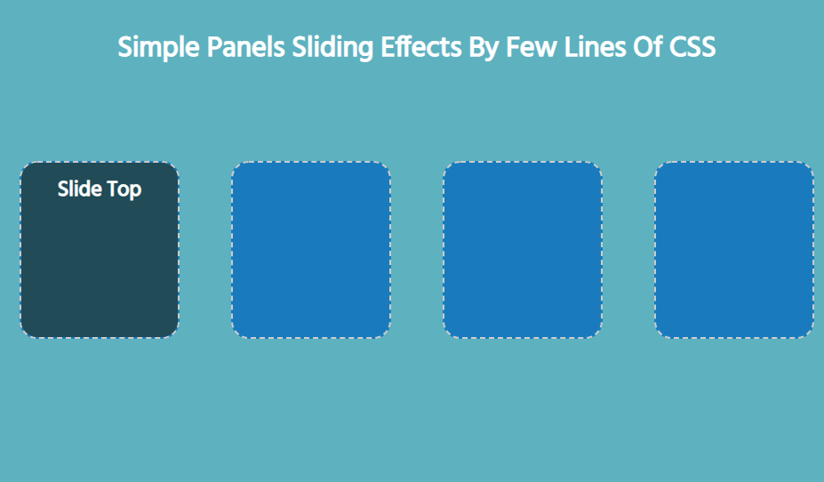 pure css sliding panel examples