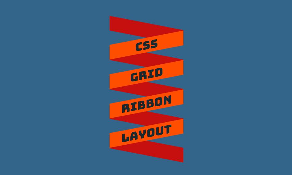 curly ribbon layout