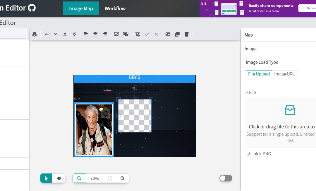 React Image Editor Components Library