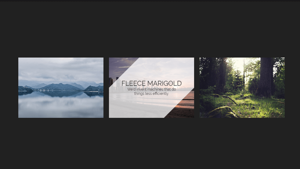 diagonal image overlay effects using css