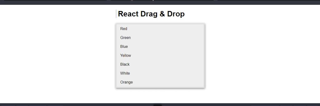 React Drag & Drop List