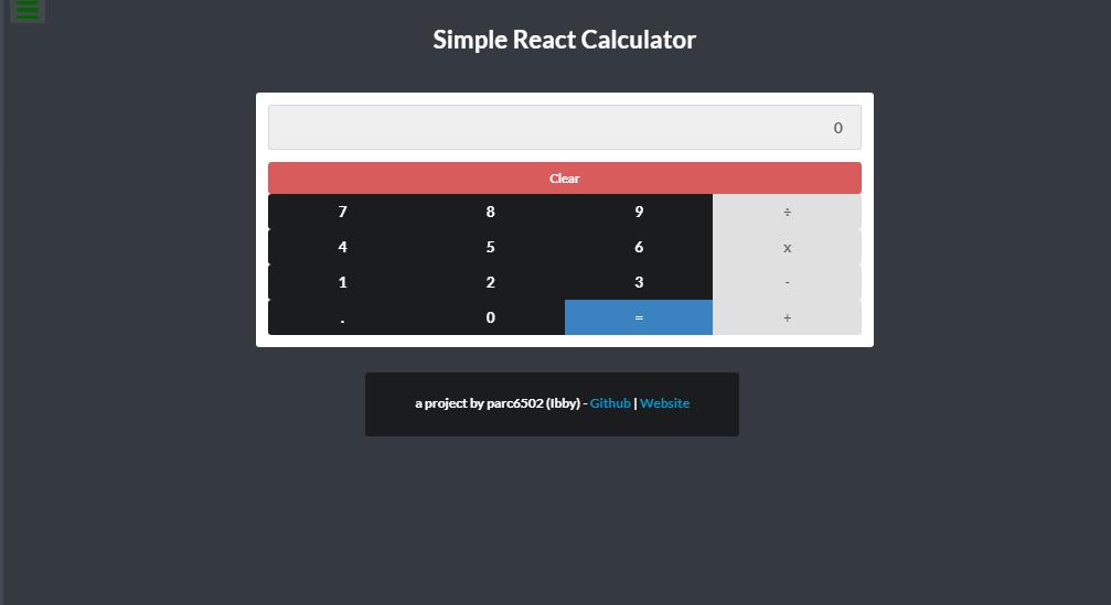 react web calculator