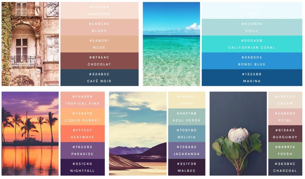 flex color palette html