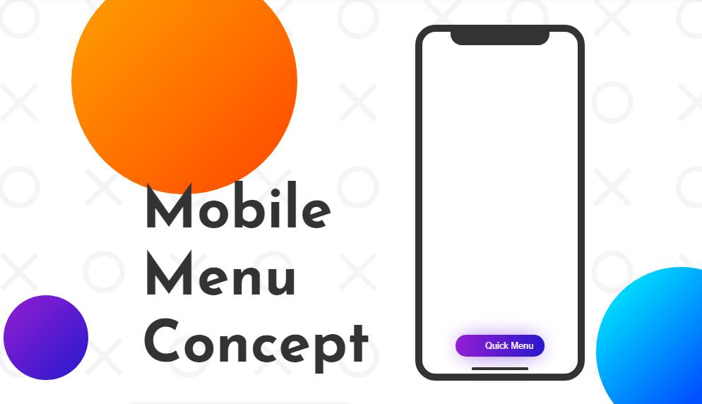 Footer mobile menu example