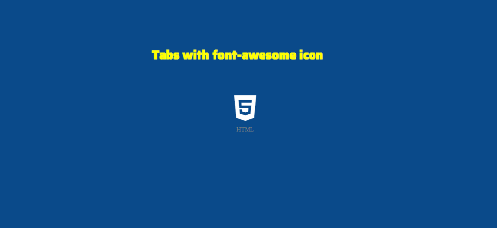 Basic HTML with CSS for an icon tab