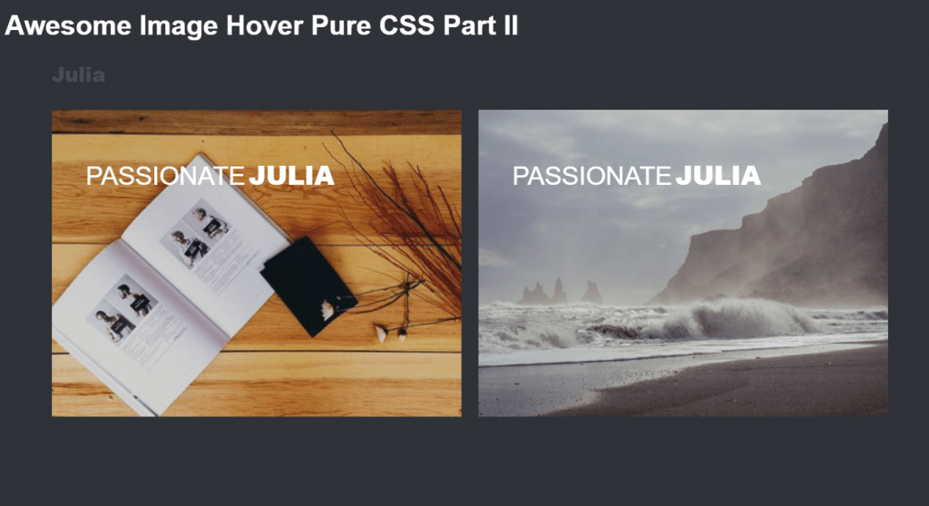 multiple image overlay hover effects