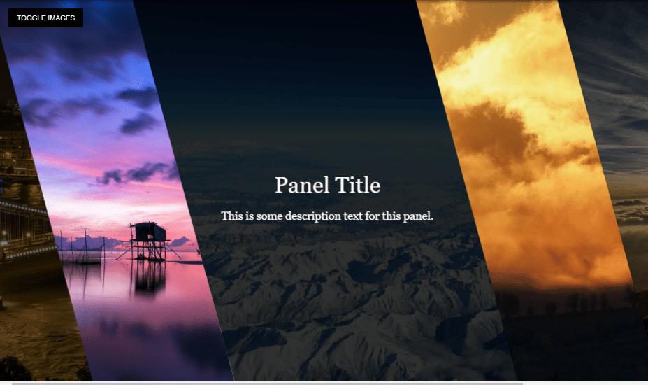 Skewed Flexbox Panels